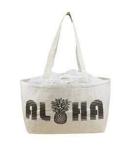 ハワイアン 保温保冷バッグ トートバッグ 大容量 レジカゴバッグ ALOHA パイナップル (ナチュラル) maka hou ハワイアン雑貨 ハワイ お土産 ハワイアン 雑貨