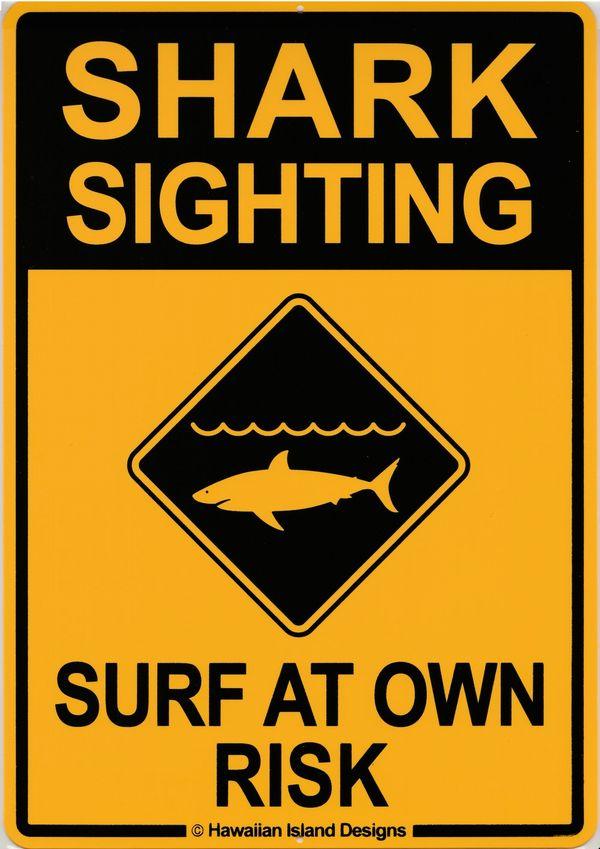 ハワイアン雑貨/インテリア/ハワイアン 雑貨 ハワイアン インテリア サインボード(SHARK SIGHTING) ハワイアン雑貨/ハワイ お土産 ハワイアン インテリア