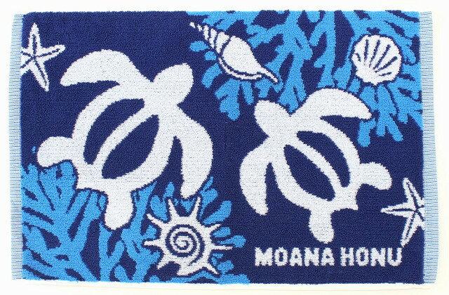 ハワイアン雑貨/ハワイ雑貨/インテリア フラレフア ハワイアン タオル バスマット(ホヌ) ハワイアン 雑貨{ハワイアン ホヌ}ウミガメ 亀柄 ハワイ お土産 ハワイアン インテリア