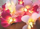 ハワイアン インテリア プルメリアガーランドランプ ホワイト