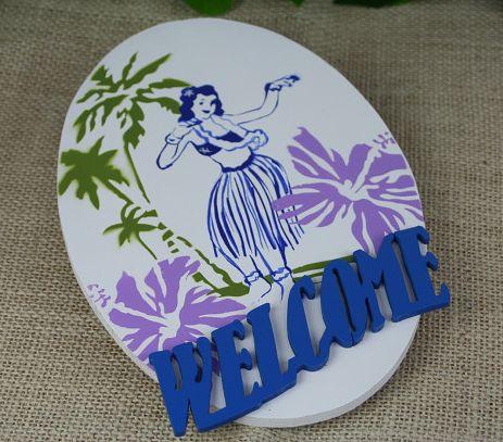 ハワイアン雑貨/インテリア/ハワイアン 雑貨 ハワイアン☆フラガールプレート(ホワイト) ハワイアン雑貨 ハワイ お土産 ハワイアン インテリア