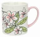 ハワイアン雑貨 プルメリア柄 トロピカル マグカップ コーヒーカップ ハワイお土産ハワイ お土産 雑貨 ハワイアン インテリア