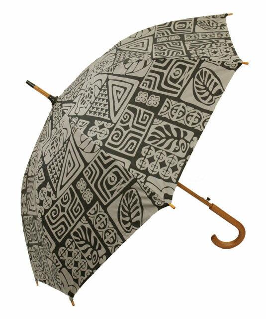 ハワイアン雑貨/ハワイアン 雑貨/フラレフア 傘 ハワイアン ジャンプ・ワンタッチ 雨傘/アンブレラ(ホヌタバ/ブラック) おしゃれ 傘ハワイ お土産 ハワイアン