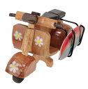 ハワイアン雑貨/ハワイ インテリア/ウッドバイク&サーフボード(ベスパA) ハワイアン雑貨 ハワイ お土産 ハワイアン インテリア