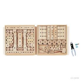 童具館の組み木 くむくむ/白木の積み木・日本製・誕生日お祝い・木のおもちゃ