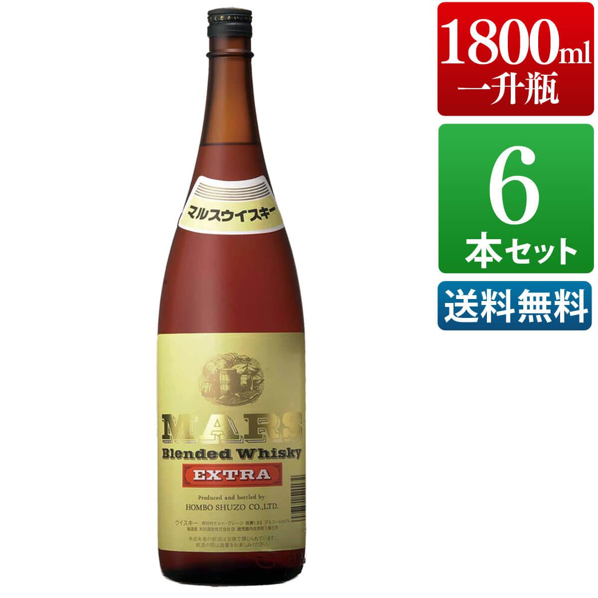 ウイスキー 6本セット マルスウイスキー エクストラ 37度 1800ml [ 本坊酒造 ウイスキー / 送料無料 ]