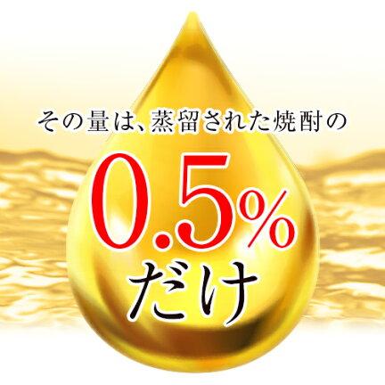 その量は蒸留された焼酎の僅か0.5%