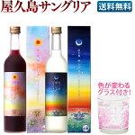 屋久島サングリアパッション赤&白ワイン2本セット色の変わるグラス付