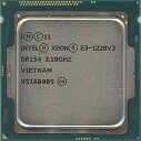 【中古】Xeon E3-1220 v3 3.1GHz 8M LGA1150 SR154