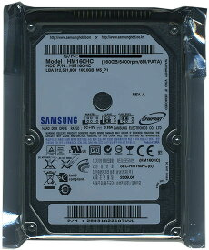 Samsung製 ノート用HDD 2.5inch HM160HC 160GB 9.5mm