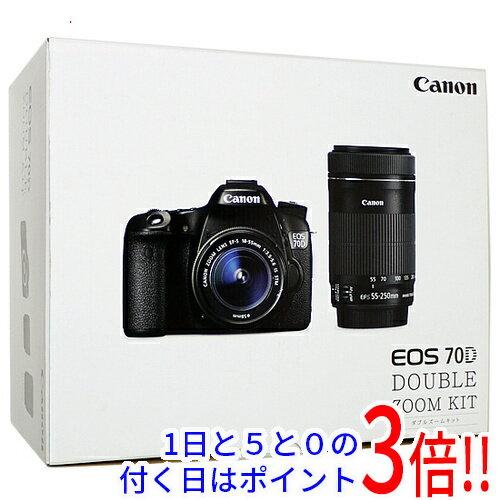 【中古】Canon製 EOS 70D ダブルズームキット 美品 元箱あり