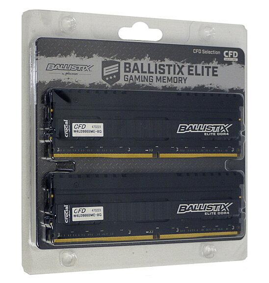 【中古】crucial Ballistix W4U2666BME-8G DDR4 PC4-21300 8GB 2枚組 元箱あり