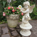 【オーナメント ガーデニング】 小鳥エンジェルA(ローズ)【天使 置物】( Gardening 天使置物 ガーデンオーナメント ) ★上品な天使が…