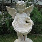 【オーナメントガーデニング】フレアーエンジェルL★石膏製みたいな天使の置物【オーナメント・ガーデニング・エンジェル】