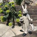 【オーナメント ガーデニング】ラビット(時計)13237【Gardening 置物 うさぎ ウサギ 動物 ガーデンオブジェ】【NOGAWA 野川農園】