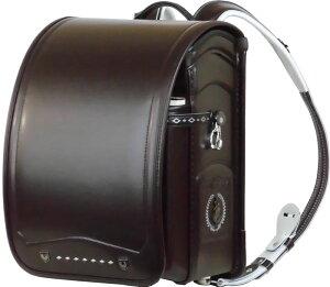 ふわりぃ 耐傷 ランドセル パイピンコンビ メガポケットモデル (セピア(こげ茶)×ブラック)A4フラットファイル対応 送料無料
