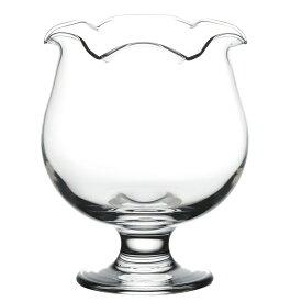 東洋佐々木ガラス パフェグラス 花ブチ トロピカルパンチ 花ブチ 食洗機対応 日本製 クリア 約φ10.6×13.5cm 35904