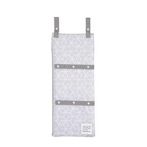 東和産業 洗濯ネット ランドリーネット まるごと洗える 干せる 3ポケットネット ホワイト&グレー 約25×60cm 【メール便】