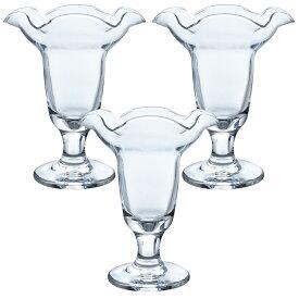 東洋佐々木ガラス パフェグラス 約φ11.2×13.7cm プルエースパーラー 日本製 食洗機対応 35802 3個入