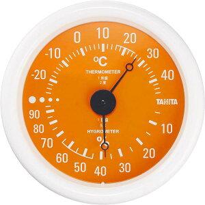 タニタ TANITA アナログ温湿度計 TT-515 オレンジ