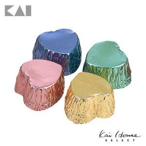 貝印 Kai House SELECT プレゼントにぴったりのアルミ箔チョコ型 ハート小 12枚入り DL6183