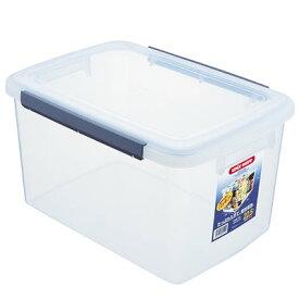 アスベル 保存容器 深型 キッチンボックス ウィル 22.5L NF-55 ( 透明 保存 保管 容器 パッキン フタ 蓋 蓋付き ふた ふた付き 角型 角 収納 キッチン 食品 乾物 缶 小麦粉 米 衣類 ペットフード 餌 キャンプ アウトドア )