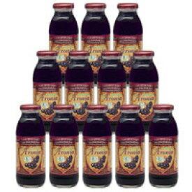 【アロニア 有機JAS認証】有機アロニア100%果汁ケース(12ビン入り)【送料無料】【抗酸化 ポリフェノール アントシアニン】