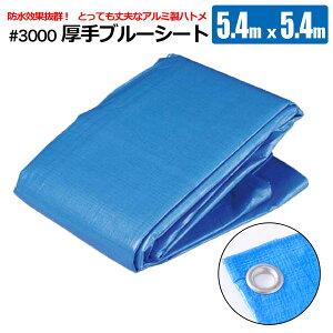 シンセイ ブルーシート #3000 5.4×5.4m 厚手 防水 レジャー 養生