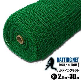 シンセイ バッティングネット 練習用 ネット 2m×30m 2本セット 野球 打撃ネット サッカー 網 練習器具 トレーニング 簡易フェンス
