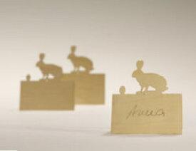 【50%OFF】【レターパックライト可】ウサギのプレイスカード6枚セット(座席カード) designimdorf