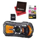 (SDカード16GB付き5点セット) リコー RICOH WG-70 オレンジ 防水・防塵・耐衝撃・防寒 デジタルカメラ 【防水カメラ】