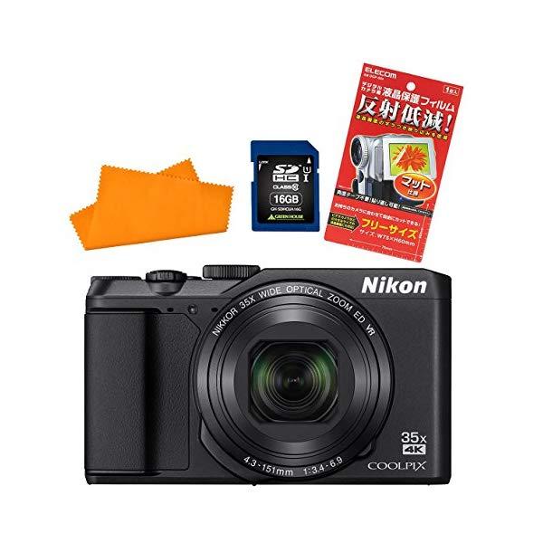 【★SD16GB&カメラポーチ等セット】ニコン(Nikon) デジタルカメラ COOLPIX A900