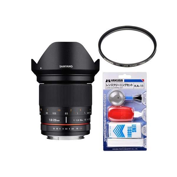 [レンズフィルター&クリーニングセット付き! ]交換レンズ サムヤン 20mm F1.8 ED AS UMC ソニーE 用