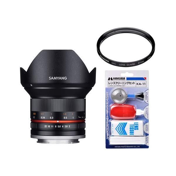 [レンズフィルター&クリーニングセット付き! ]交換レンズ サムヤン 12mm F2.0 ソニーE BK用