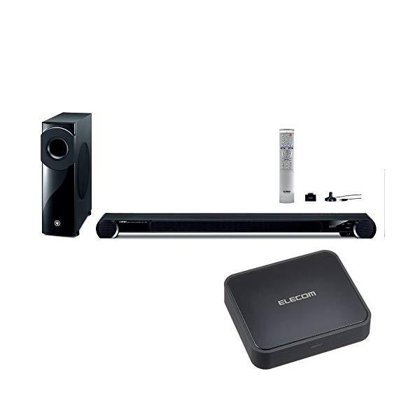 (ホームシアター&Bluetoothレシーバーセット) ヤマハ(YAMAHA) YSP-4300(B)ブラック & エレコム LBT-AVWAR700 (ラッピング不可)