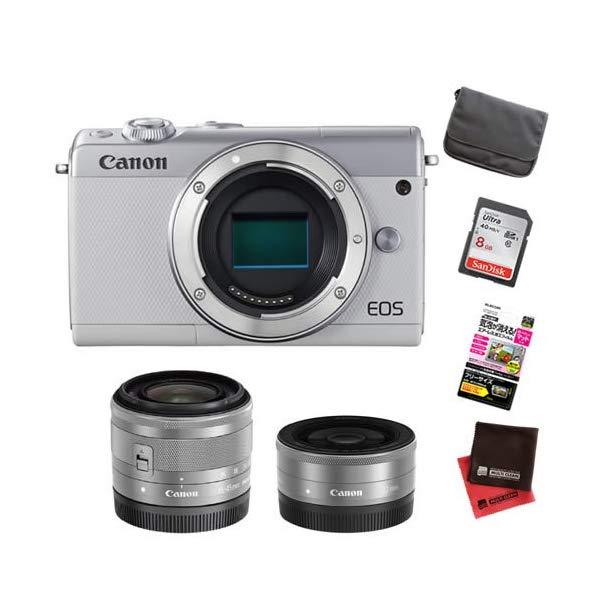 【お買い得セット!】キヤノン EOS M100 ダブルレンズキット ミラーレスカメラ [カラー選択式][Canon]