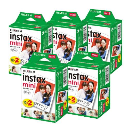 【送料無料】富士フィルム チェキフイルム instax mini 2パック品 JP2(20枚入り)×5個セット [100枚入]