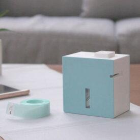 (クリアテープ&電池付)キングジム ラベルプリンター テプラLite ブルー LR30アオ フィルムテープ&単4電池&クロスセット