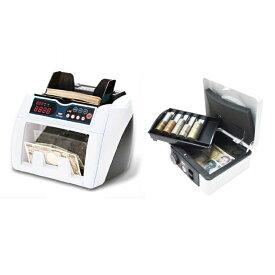 (セット)(紙幣計数機) ダイトDN-600A+ダイト 手提金庫DS-210 ホワイト