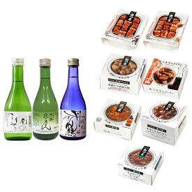 (缶つま7点+日本酒3点セット) 国分北海道KK肉・ミート系おつまみアソート (ラッピング不可)