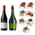 (缶つま7点+ワイン2点セット)国分北海道KK肉・ミート系おつまみアソート(ラッピング不可)