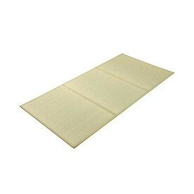 (★4枚セット)(メーカー直送)(代引不可)シングル 三つ折り 置き畳 国産 『い草マットレス』 約100×210cm(裏:不織布)(イケヒコ)(ラッピング不可)