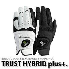 (代引き不可:メール便のみ送料無料)(メール便可:2点まで)日本仕様 HIRZL ハーツェル(左)TRUST HYBRID plus+ (ゴルフグローブ)(メンズ/男性用)(ラッピング不可)