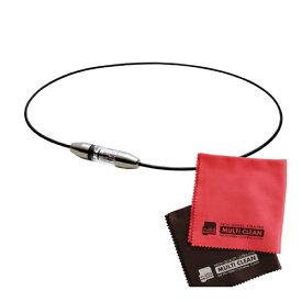 Phiten ファイテン RAKUWAネック プチカレント 50cm&マイクロファイバークロス 2枚組 セット(チタンネックレス)