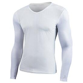 EON SPORTS(イオンスポーツ)ZEROFIT COLD SKIN ゼロフィット コールドスキン ロングスリーブVネック ホワイト ZCSUVA-0313(アンダーウェア)(ユニセックス/男女兼用サイズ)