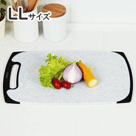 新輝合成 トンボ 石目調 ラバー付 耐熱 抗菌 まな板 LLサイズ(俎板/カッティングボード)