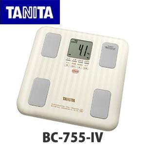 【体重計・体脂肪計】TANITA タニタ & 【乗った人をピタリと当てる「乗るピタ機能」搭載】 体組成計 インナースキャン BC-755-IV アイボリー(BC755)