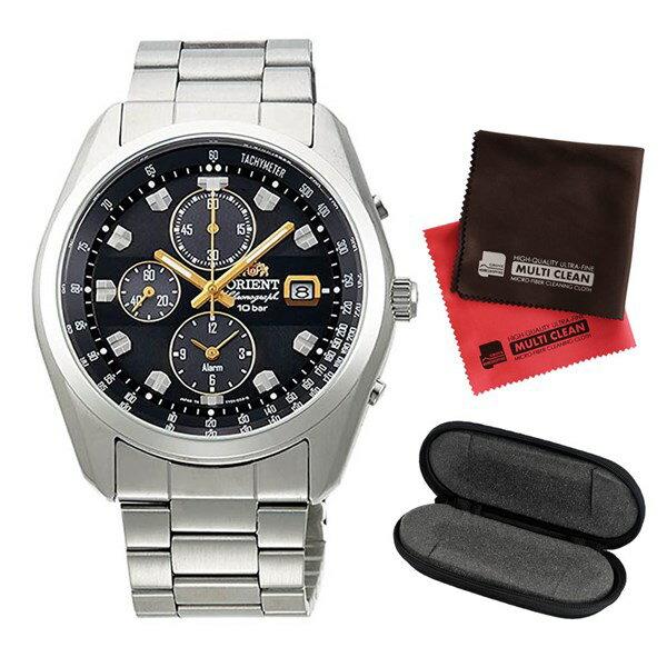【1本用時計ケース・マイクロファイバークロス2枚セット】 【国内正規品】 ORIENT(オリエント)【腕時計】 WV0091TY Neo70's[ネオセブンティーズ] ソーラークロノ