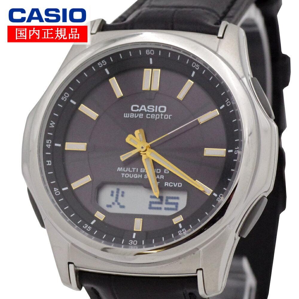 【国内正規品】CASIO(カシオ) wave ceptor ウェーブセプター WVA-M630L-1A2JF タフソーラー 世界6局対応電波ソーラー時計(WVA-M630Dシリーズの革バンドモデル) メンズ