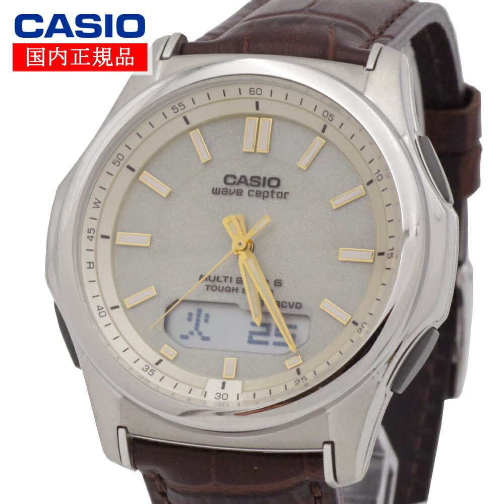 【国内正規品】CASIO(カシオ) wave ceptor ウェーブセプター WVA-M630L-9AJF タフソーラー 世界6局対応電波ソーラー時計(WVA-M630Dシリーズの革バンド・一部流通モデル)